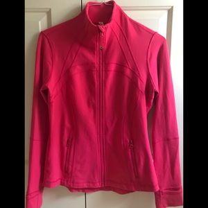 🍒LULULEMON sz 10 DEFINE Jacket BOOM JUICE Red/Pink - HTF SIZE!!